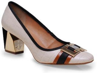 Sapato Feminino Seculo Xxx 98010454 Aveia/caramelo/preto - Tamanho Médio