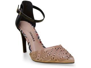 Sapato Feminino Tanara 0188 Nude/preto - Tamanho Médio