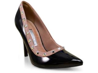 Sapato Feminino Via Marte 17-16301 Preto/tabaco - Tamanho Médio