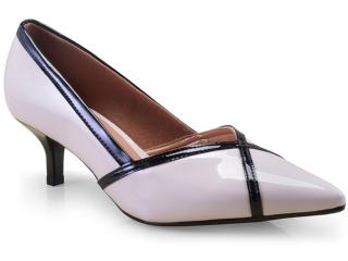Sapato Feminino Vizzano 1122656 Creme/preto - Tamanho Médio