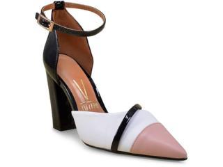Sapato Feminino Vizzano 1264102 Branco/preto/nude - Tamanho Médio