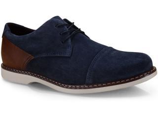 Sapato Masculino West Coast 187206/5 Marinho/conhaque - Tamanho Médio