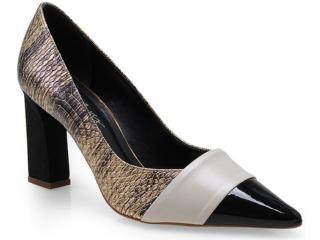 Sapato Feminino Seculo Xxx 99110553 Ouro/aveia/preto - Tamanho Médio