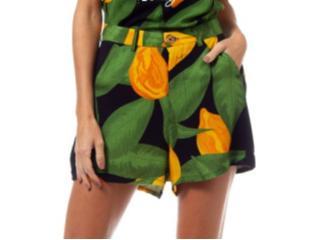 Short Feminino Coca-cola Clothing 63201486 Vb107 Preto Estampado - Tamanho Médio