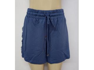 Short Feminino Lado Avesso L114463 Azul Jeans - Tamanho Médio