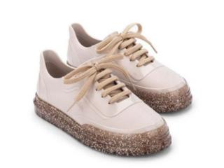 Tênis Feminino Melissa 33306 52326 Classic Sneaker Bege Glitter - Tamanho Médio