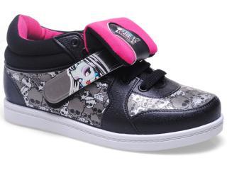 Fem Infantil Grendene 21135 Sneaker Monster High Branco/preto - Tamanho Médio
