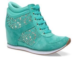 Sneaker Feminino Via Marte 13-17202 Esmeralda - Tamanho Médio