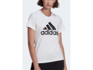 T-shirt Feminino Adidas Gl0649 Logo  Branco - Tamanho Médio