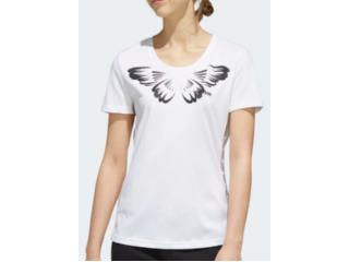 T-shirt Feminino Adidas Ei4830 w Farm p Off White - Tamanho Médio