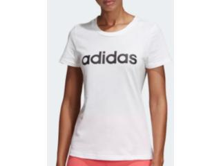 T-shirt Feminino Adidas Du0629 w e Lin Slim t Off White - Tamanho Médio