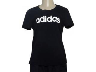 T-shirt Feminino Adidas Dp2361 Preto/branco - Tamanho Médio