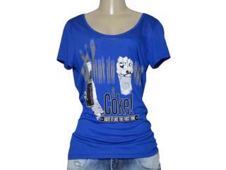 T-shirt Feminino Coca-cola Clothing 343201651 Azul - Tamanho Médio