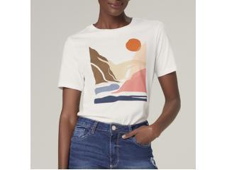 T-shirt Feminino Dzarm 6rz3 Nmcen Off White - Tamanho Médio