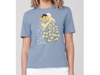T-shirt Feminino Dzarm 6rz3  Az3en Azul - Tamanho Médio