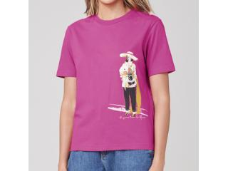 T-shirt Feminino Dzarm 6rz3 Kquen Pink - Tamanho Médio
