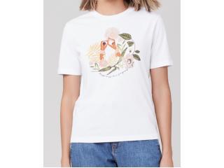 T-shirt Feminino Dzarm 6rz3 N0aen Branco - Tamanho Médio