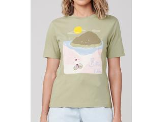 T-shirt Feminino Dzarm 6rz3 Wg6en Verde - Tamanho Médio