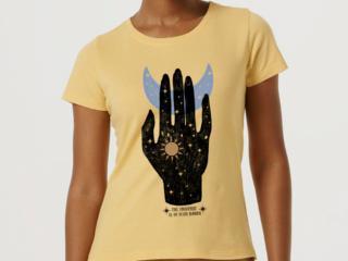 T-shirt Feminino Hering 4enk 2ken Amarelo - Tamanho Médio