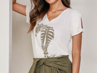 T-shirt Feminino Lado Avesso L115411 Zebra - Tamanho Médio