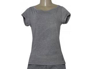 T-shirt Feminino Lupo 77013 001 8780 Mescla - Tamanho Médio
