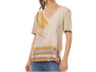 T-shirt Feminino Maria Valentina 12000106147 Areia - Tamanho Médio