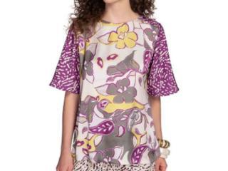 T-shirt Feminino Maria Valentina 12000106559 Roxo - Tamanho Médio
