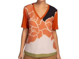 T-shirt Feminino Maria Valentina 12000106611 Terracota - Tamanho Médio