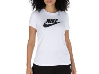 T-shirt Feminino Nike Bv6169-100 Sporwear Essential Branco/preto - Tamanho Médio
