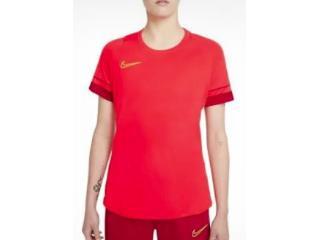 T-shirt Feminino Nike Cv2627-635 Dri-fit Academy Laranja Neon - Tamanho Médio