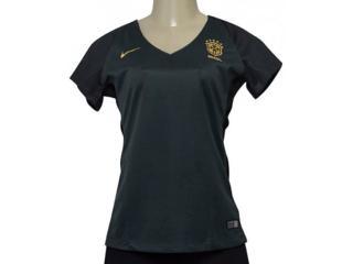 T-shirt Feminino Nike 832477-364 Cbf Brasil Iii Torcedor Verde Musgo - Tamanho Médio