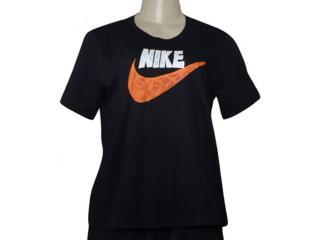 T-shirt Feminino Nike Cj2055-010 Sportswear Preto - Tamanho Médio