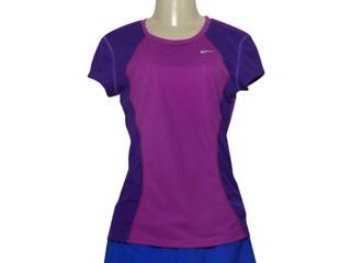 T-shirt Feminino Nike 645443-513 Racer ss Top Roxo/violeta - Tamanho Médio