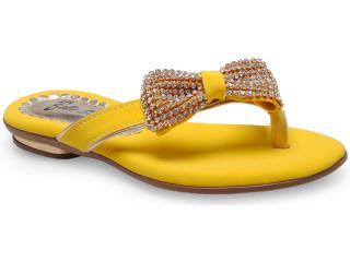 Tamanco Fem Infantil Belle Scarpe 800 Amarelo - Tamanho Médio