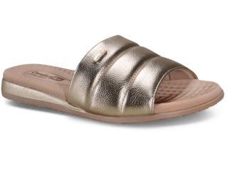 Tamanco Feminino Comfortflex 20-44402 Nude/ouro - Tamanho Médio