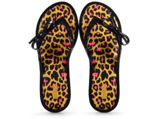 Tamanco Feminino Melissa 32651 Flip Flop Animal Preto/amarelo - Tamanho Médio