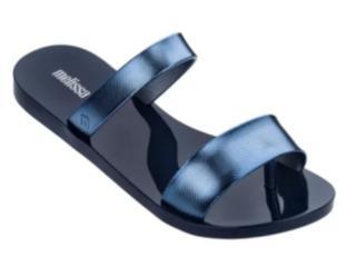 Tamanco Feminino Melissa 32808 53338 Love Lip Azul/azul Metalizado - Tamanho Médio