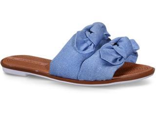 Tamanco Feminino Moleca 5297424 Jeans - Tamanho Médio