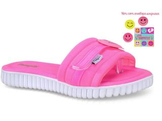 Tamanco Fem Infantil Pampili 123.153  Pink Fluor - Tamanho Médio