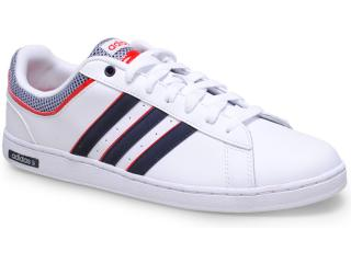 Tênis Masculino Adidas F37934 Neo Derby Set Branco/marinho/vermelho - Tamanho Médio