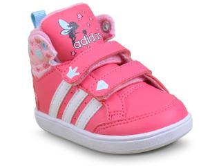 Tênis Fem Infantil Adidas Cg5738 Hoops Cmf Mid Rosa/branco - Tamanho Médio
