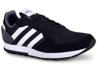 Tênis Masculino Adidas B44650 8k Preto/branco/cinza - Tamanho Médio