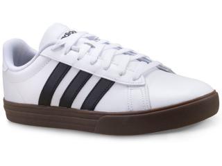 Tênis Masculino Adidas F34469 Daily 2 Branco/preto/marrom - Tamanho Médio