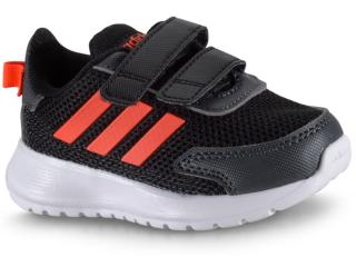 Tênis Uni Infantil Adidas Eg4139 Tensauer Run i Preto/coral - Tamanho Médio