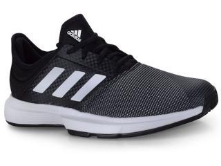 Tênis Masculino Adidas Eg2009 Gamecourt m Preto/branco/cinza - Tamanho Médio