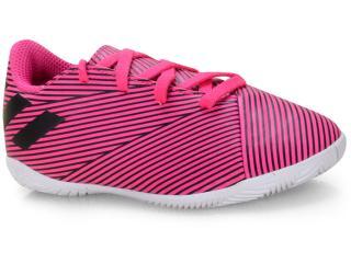 Tênis Masc Infantil Adidas F99939 Nemeziz 19 4 in jr Pink/preto/branco - Tamanho Médio