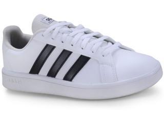 Tênis Feminino Adidas Ee7968 Grand Court Base w Branco/preto - Tamanho Médio