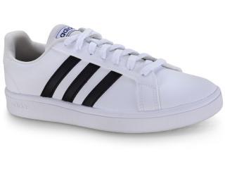 Tênis Masculino Adidas Ee7904 Grand Court Base m Branco/preto - Tamanho Médio