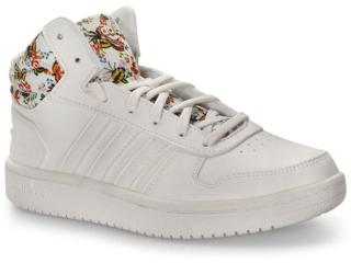 Tênis Feminino Adidas Ef0120 Hoops Farm Mid 20w Branco - Tamanho Médio