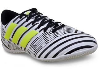 Tênis Masculino Adidas S82473  Nemeziz 17.4 in Branco/preto/limão - Tamanho Médio